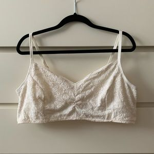Cream colored bralette